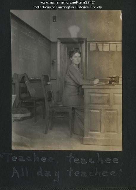 School Teacher, Farmington, ca. 1915