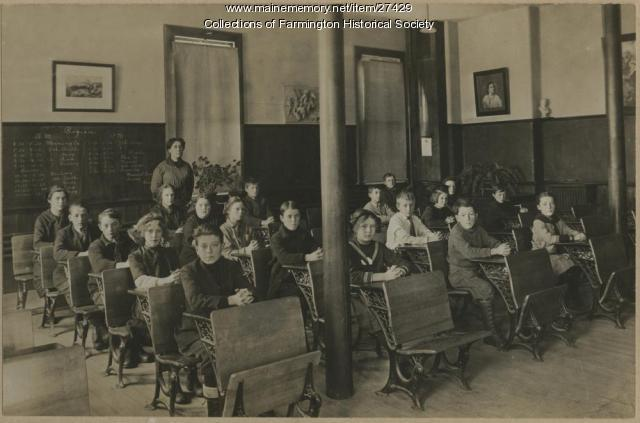 Interior of the Model School, Farmington, 1884