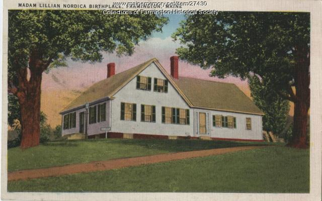 Madame Lillian Nordica's birthplace, 1936