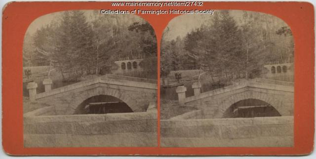 Bridges at Rollo Pond, Farmington, circa 1895