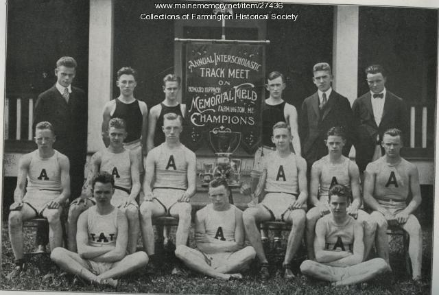 Abbott School Track Team, Farmington, 1918
