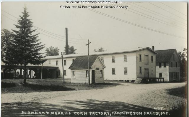 Burnham Morrill Corn Factory, Farmington, ca. 1930