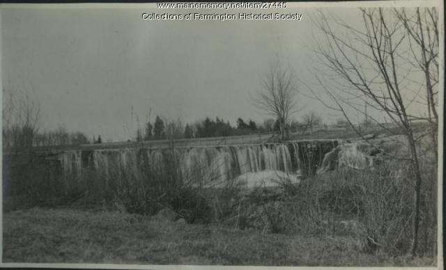 Fairbanks Dam on Barker Brook in Farmington, 1918
