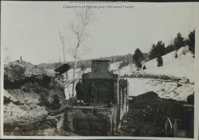 Russells Mill after fire, Farmington, 1918