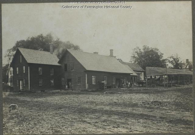 E. S. Dingley Corn Shop, Farmington Falls, ca. 1895