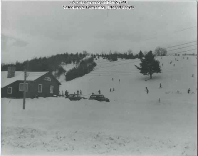 Titcomb Ski Slope, Farmington, ca. 1950