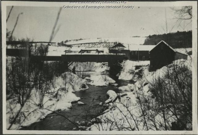 Walton Mill on Walton Pond, Farmington, circa 1917