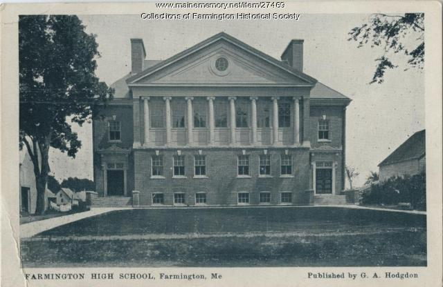 Farmington High School, ca. 1903