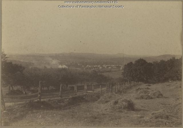 View of Farmington from Titcomb Hill Farm, circa 1885