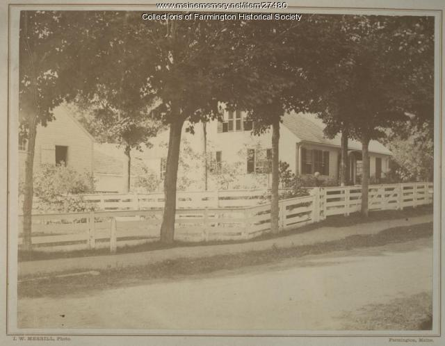 Lydia Abbott Titcomb and Pine Tree Cottage, Farmington,  circa 1875