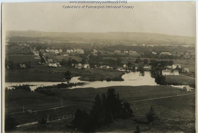 Walton Mills and Walton Pond, Farmington, ca. 1930