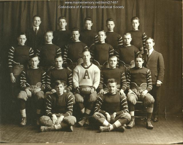Abbott School Football Team, Farmington, 1917