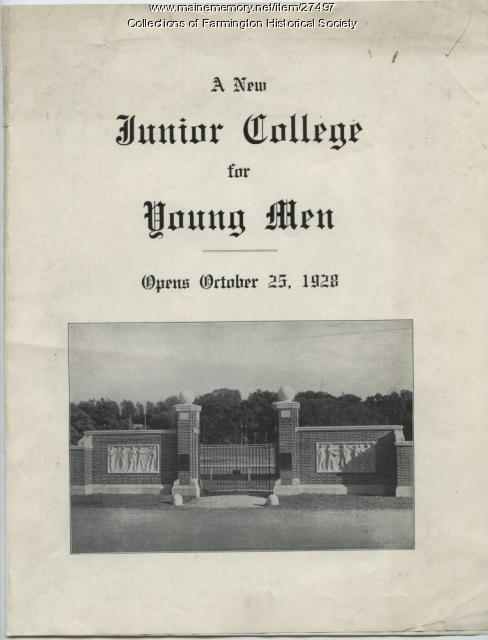 Abbot Junior College Flyer, 1928