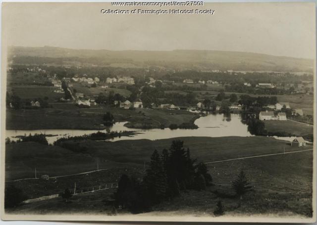 Walton Mill Pond and Walton Mill, Farmington, ca. 1930