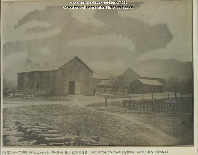 Alexander Hillman Farm Buildings, Farmington, ca. 1885