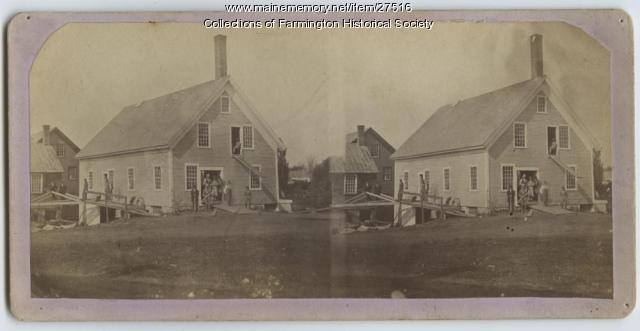 Spool Mill and Williams Mill Stereoptic Card, Farmington, ca. 1900