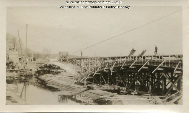Bridge Under Construction at East New Portland November 29th, 1923