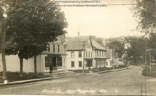 Main Street, West New Portland, circa 1900