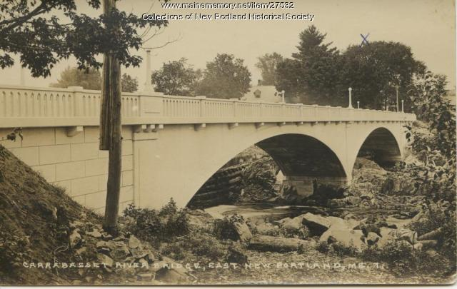Carrabassett River Bridge, East New Portland, ca. 1924