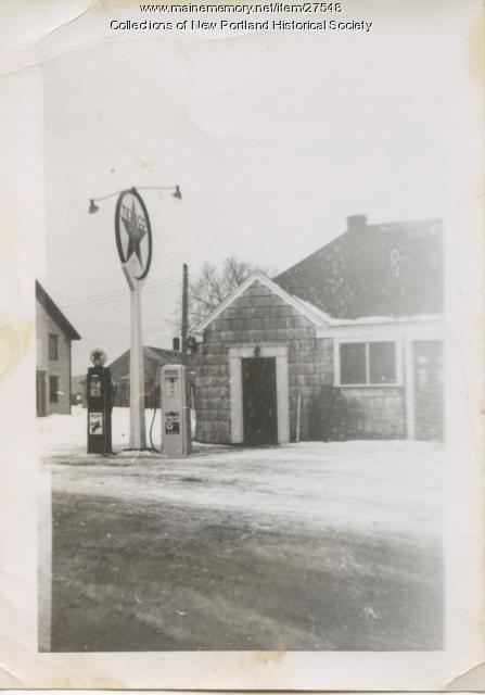 Osie's Texaco Service Station, New Portland, ca  1940 - Maine Memory