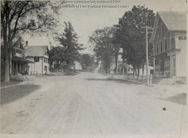 Main Street, New Portland, ca. 1940