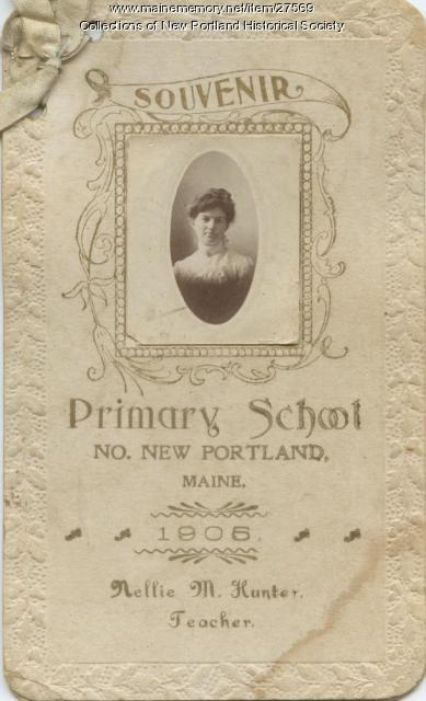 Primary School Souvenir North New Portland 1905