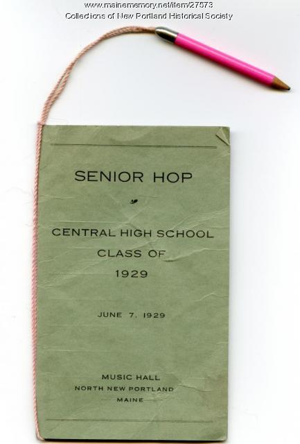 Senior Hop, New Portland, 1929
