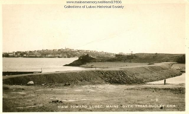 Quoddy Tidal Power Project dam, Lubec, ca. 1937