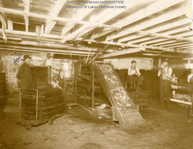Sardine factory, Lubec, 1910