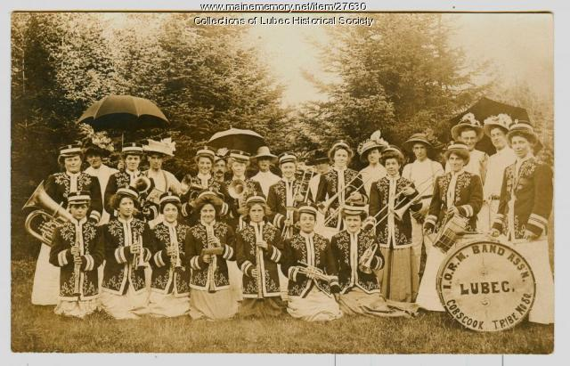 Red Men Band Women's Auxiliary, Lubec, ca. 1910