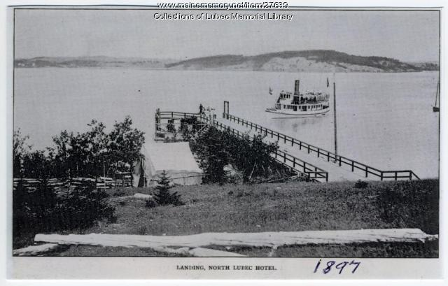 Ferry Landing at Ne-ma-ta-no, North Lubec, 1897