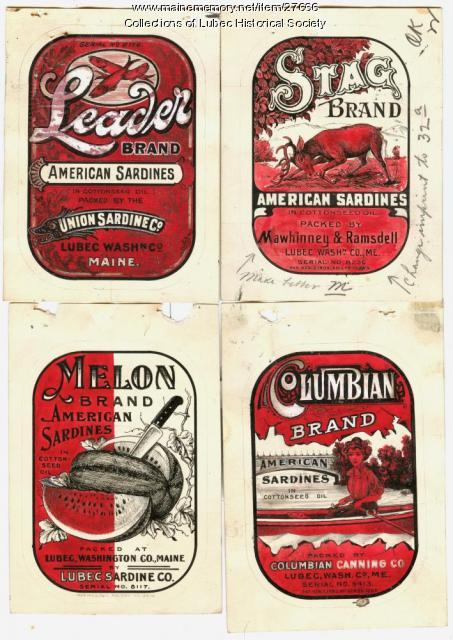 Sardine can labels, Lubec, 1909