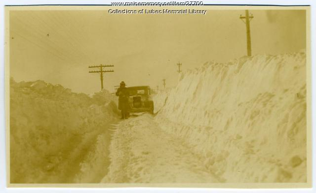 Snow in West Lubec, January 21, 1934