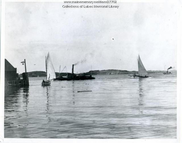 The Julius Wolff Towing Sardine Carrier, Lubec, ca. 1910