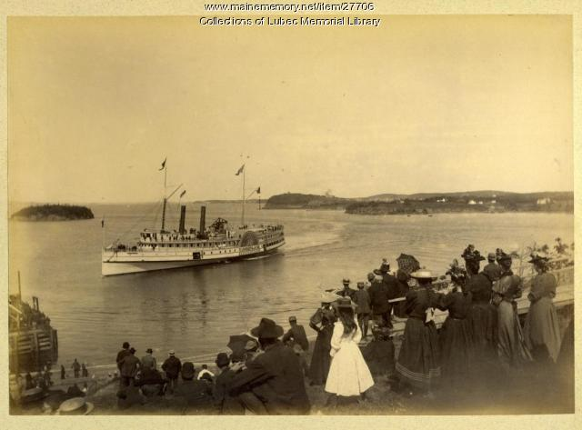S.S. Cumberland Arriving from Boston, Lubec, 1893