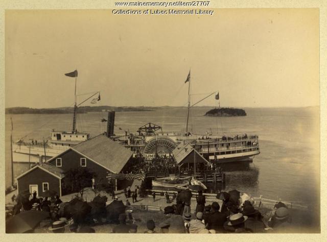 S.S. Cumberland at Dock, Lubec, 1893
