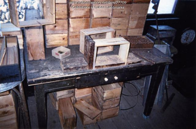Herring boxes and shooks at McCurdy's, Lubec, 1998