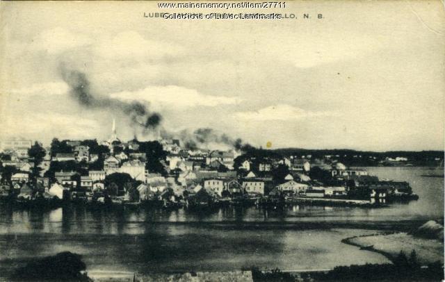 View of Lubec from Campobello, ca. 1950