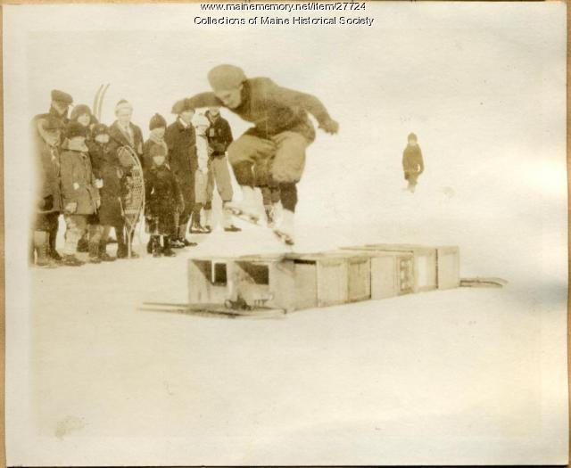 Skate jumping, Augusta, 1923