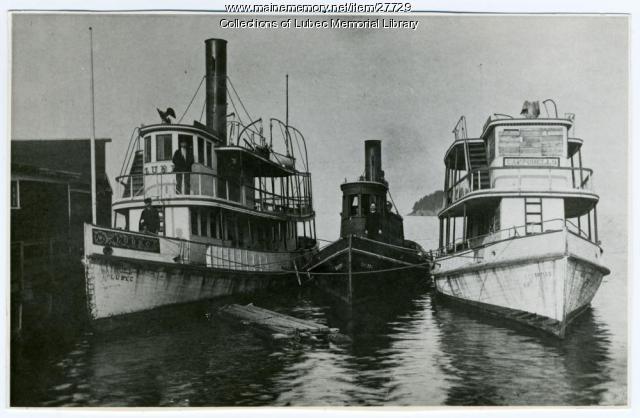 Lubec and Campobello Ferry Boats, Lubec, ca. 1900
