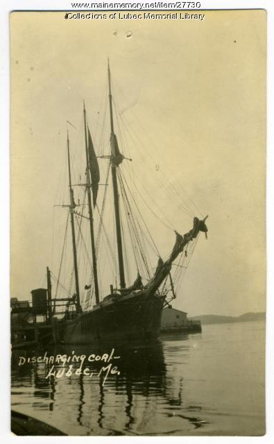 Schooner William Higbee, Lubec, ca. 1935