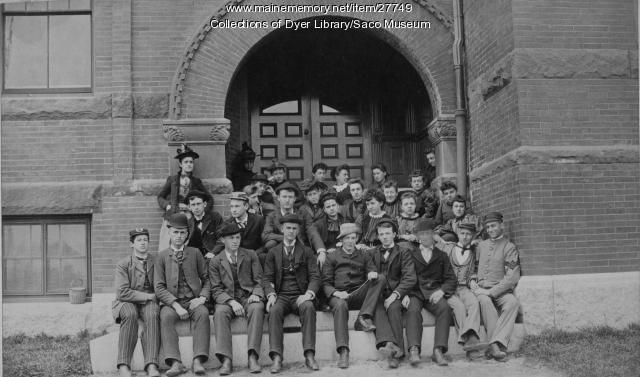 Thornton Academy Students, Saco, 1892