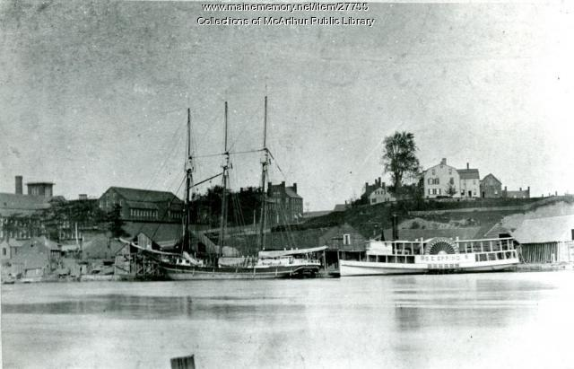 S. E. Spring at Factory Island Wharf, ca. 1885