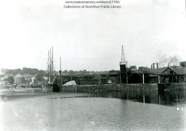 Coal docks, Factory Island, Biddeford, ca. 1912