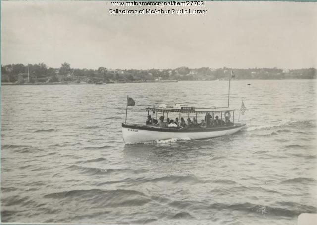 "Launch ""Nimrod,"" Saco River, 1913"