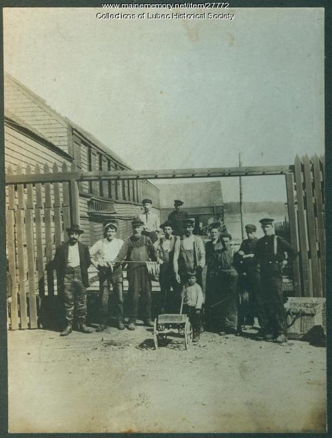 Smoked Herring Stand, Lubec, ca. 1910
