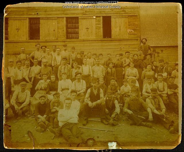 Columbian Canning Company Smokehouse Employees, Lubec, ca. 1900