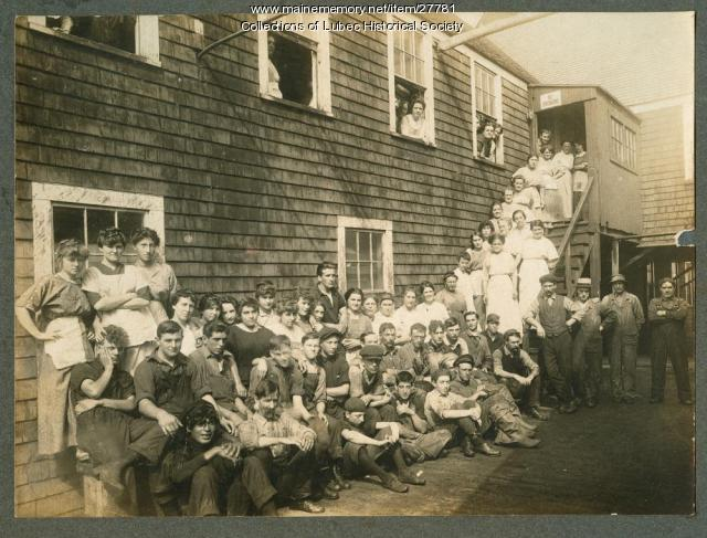 Sardine Company Factory A Employees, Lubec, ca. 1901