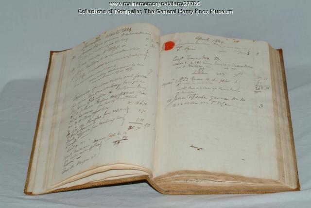 Henry Knox's Wastebook, ca. 1804