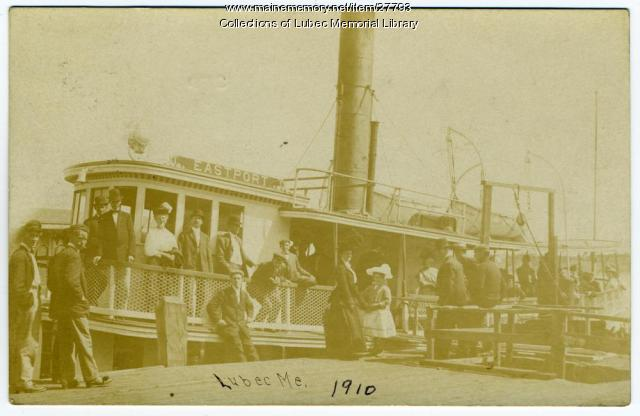 Eastport Ferry at Dock, Lubec, 1910
